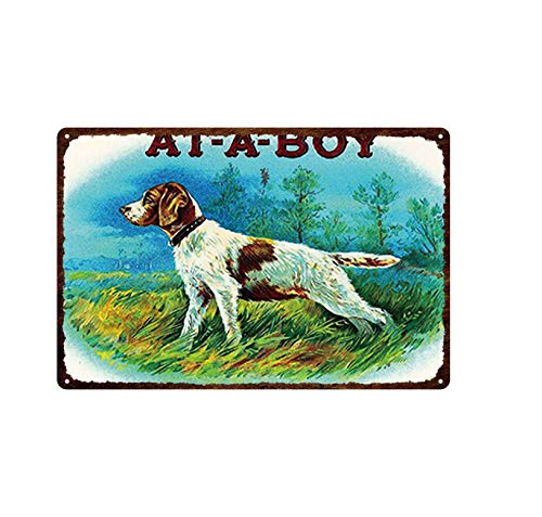 Aya611 Plaque Iron Painting Holiday Celebration Retro Decor Card With Cute Cats&dogs Wearing Christmas Hats Plaque Tin Painted Metal Fade-resistant Tin Sign 20cmx30cm 24