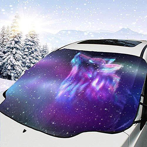 c-sky Nebel Galaxy Wolf Auto Windschutzscheibe Schnee EIS Frost Abdeckung Sonnenschutz