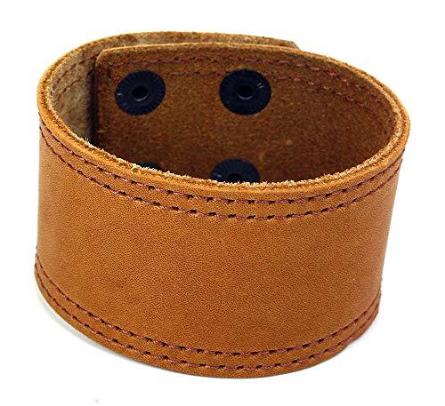 Sulla Breites Lederarmband modisches Leder Armband Band mit Druckknöpfen handgemacht in Deutschland für das Handgelenk Armreif Für Männer