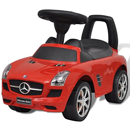 vidaXL Rutschauto 6 Geräusche Rot Rutscher Kinderauto Bobbycar Kinderfahrzeug