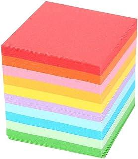 Tiktok 520枚 折り紙 千羽鶴用 10色 カラフルシート DIY 手作り 両面 5x5 cm