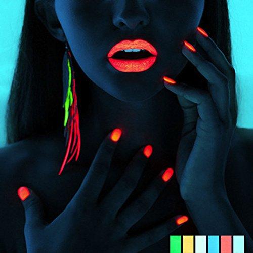 Frcolor 10 Pcs Nail Art Poudre Nail Pointe Glow Glitter Poudre Poussière Lumineux Fluorescent Sands fot Décoration