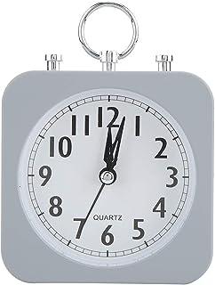 Vintage Retro väckarklocka, Classic Silent Desktop Mini bärbar ringklocka som inte tickar lätt Set med nattljusfunktion