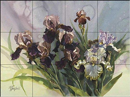 Fliesenwandbild - Iris IV- von Clif Hadfield - Küche Aufkantung/Bad Dusche