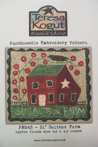 Ol' Saltbox Farm Barn Punchneedle Punch Needle Embroidery Teresa Kogut Pattern PN043