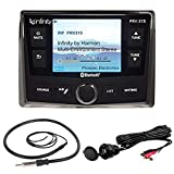Infinity PRV-315 AM/FM Radio Receiver USB Port Bluetooth 200 Watt Waterproof Marine Stereo, Bundle Combo With Enrock AUX/USB to RCA Cable + 22' Wired Radio Reception Antenna