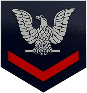 Navy E-4 Petty Officer 3rd Class (Red) Large Decal