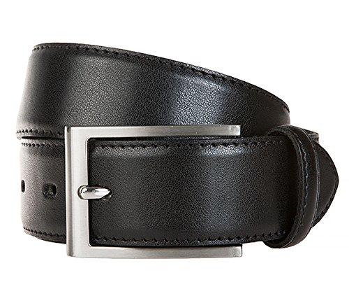 LLOYD Men´s Leather Belt 3.5 W100 Black - recortable