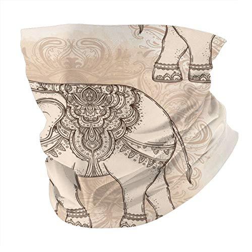 Hermoso tatuaje tribal estilo elefante vintage versátil polaina, polaina, pasamontañas, casco de equitación para niños, mujeres, hombres, exteriores, protección UV