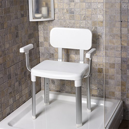 TW24 Wannensitz - Duschstuhl - Badewannenstuhl - Duschhocker mit Rückenlehne - Badsitze mit Modellauswahl (Dusch- und Badstuhl mit Arm- und Rückenlehne)