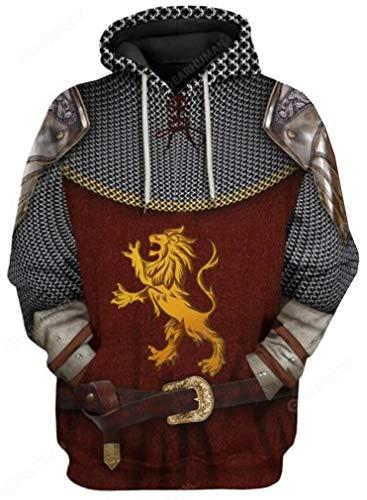 MINIDORA Trendy Hoodie with Pocket The Historical Figure Alexander Hamilton Clinton Edward Cosplay 3D Printed Sweatshirts for Men XL,Narnia