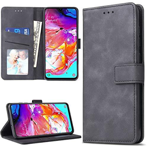 Lelogo Galaxy A70 Hülle, Handyhülle Kompatibel für Samsung Galaxy A70 Lederhülle, Handytasche Schutzhülle Tasche Flip Brieftasche Hülle [Premium PU Leder] mit Kreditkartenhaltern (Schwarz)