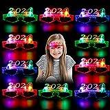 Joyibay 10 Pares Gafas LED, 2021 Gafas con luz LED Gafas con Brillante Gafas de Decoración para Fiestas para Año Nuevo Conciertos de Carnaval de Navidad Regalos de Fiesta de Cumpleaños