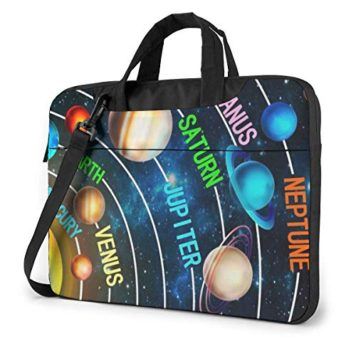Solar Space System Laptop Tote Bag Compatible With 13-15.6in Ultrabook Carrying Handbag With Strap,