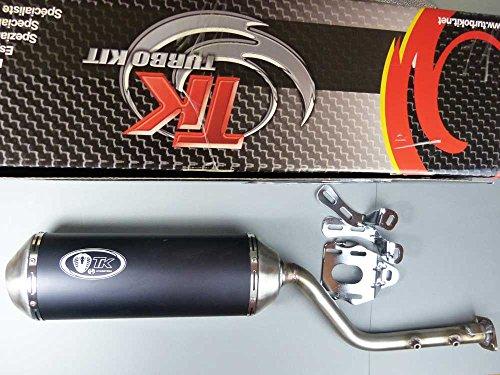 Auspuff Ersatzteil für/kompatibel mit Aeon Cobra 320 mit ABE Auspuffanlage Black Edition