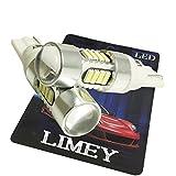 (ライミー)LIMEY 新型登場 T10 T16 LED ホワイト 白 ポジション バックランプ 13.2W ハイパワーCREE製チップ+最新4014SMD プロジェクターレンズ搭載 6500K 12-24V対応 2個セット 【取扱説明書&保証書付き】 L-T16W3535CR13W