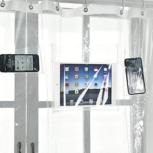 Phones Accessories - Waterproof douchegordijn plastic Peva Transparant White Clear Bathroom Luxury Bath Decor D - Sports Garden Girls Events Cell Phones Health Electronics Accessories Computer 180 x 200 cm.