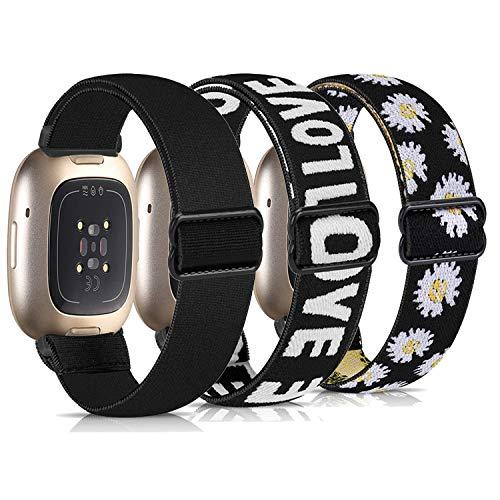Zoholl Compatible con Fitbit Versa 3 Strap&Sense Strap,Correa de Repuesto Deportiva elástica Transpirable para Mujeres y Hombres,Pulsera para Fitbit Versa 3& Sense para Mujeres Hombres