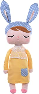 JINQIN Plush Toys for Babies Girls Soft Cotton Bunny Rabbit Yellow MeToo Dolls for Toddlers