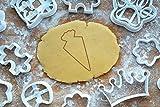 Schultüte Ausstechform 10 cm Zuckertüte Ausstecher Einschulung Keksausstecher Backen Plätzchen Cookie Cutter Fondant