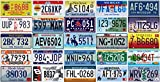 OPO 10 - Lotto di 25 targhe da 25 Stati degli Stati Uniti - Replica di targhe per Auto in Metallo Americane Americane Reali (P7)