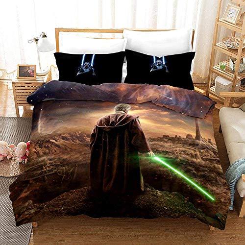 227 Duvet Cover Sets 3D Star Wars Printing Bedding Set 100% Polyester 1 Duvet Cover And 2 Pillowcases 3pcs H-AU Single140x210cm