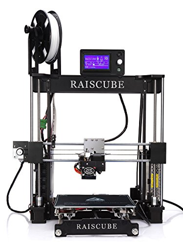 Printer DIY DIY Kit type aluminum frame with 3d printing, large size size and stability of high precision heated bed 12864 screen display (A8R, Black)