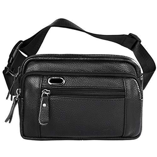 OrrinSports Bum Bags para hombres y mujeres Fanny Pack cuero genuino cintura bolsa de viaje bolsa