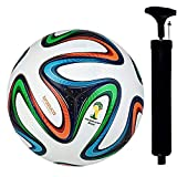 WRF Brazuca Multicolour Hand Stich Football Size-05…