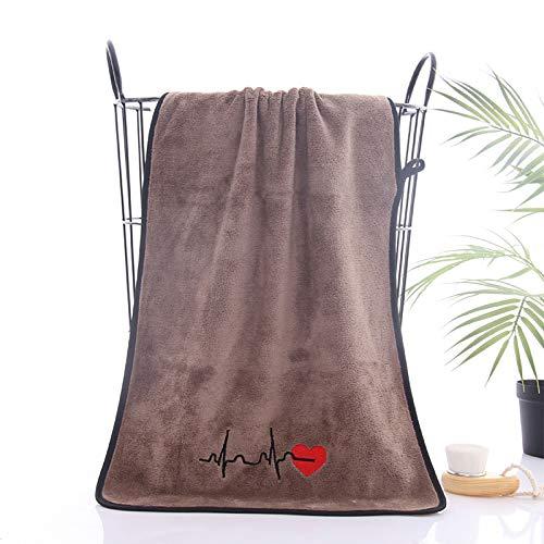 Toalla de fibra fina de 35 x 75 pares bordadas de fideos toalla de absorción de agua suave