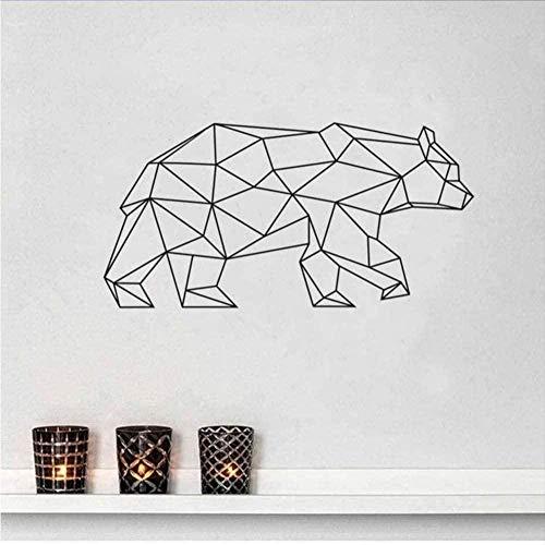 Etiqueta de la pared PVC extraíble etiqueta de la pared 84 * 42 cm geométrico animal oso estilo sala de estar arte calcomanía pegatinas de pared y mural habitación de niños