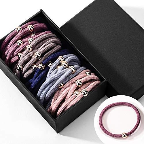 Coleteros para mujer, Gomas del pelo de colores, finas, de perlas, espiral,...
