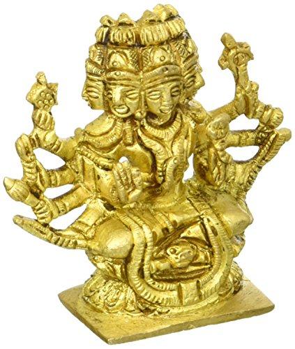 Exotic India Sadashiva (pequeña Estatua)-Estatua de latón