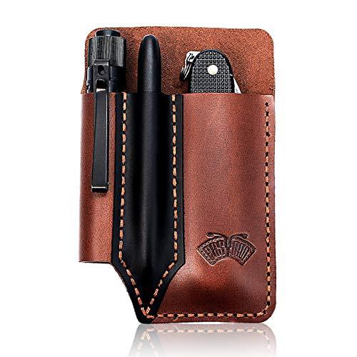 EASYANT Leather Pocket Organizer Handmade Multitool Sheath Accessories...
