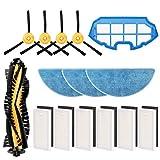 morpilot Kit de Accesorios para Conga Excellence y Conga 990 Excellence, Recambios con 4 Cepillos Laterales, 3 Mopas, 6 Filtros HEPA, 6 Filtros Esponja Negra, 1 Rodillo Central, 1 Prefiltro de Malla