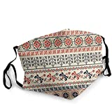 Fashion Comfortable Reusable Windproof Anti-dust Design Traditional Palestinian Art Art Geometry Printed Face Mask Scarf