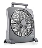 O2COOL 10 Inch Multiple Sources-Rechargeable Smart Power Fan