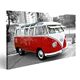 bilderfelix® Bild auf Leinwand Bulli Bus T1 Vintage