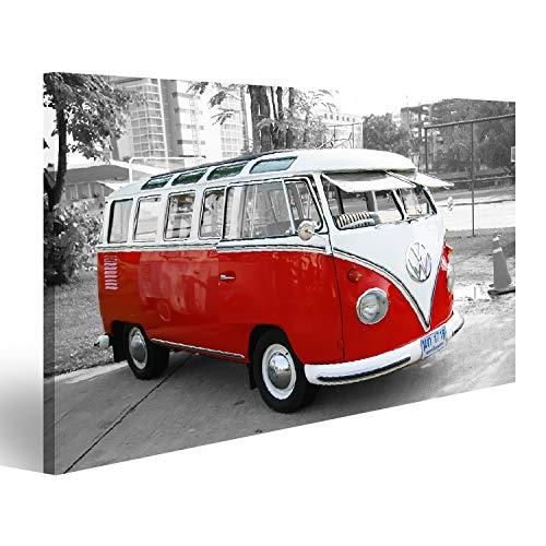 bilderfelix® Bild auf Leinwand Bulli Bus T1 Vintage Wandbild, Poster, Leinwandbild MVG