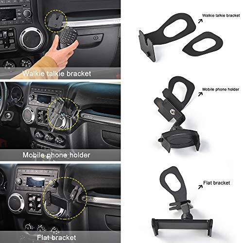 RT-TCZ for Jeep Wrangler Multi-Function Phone Holder, Radio Holder...