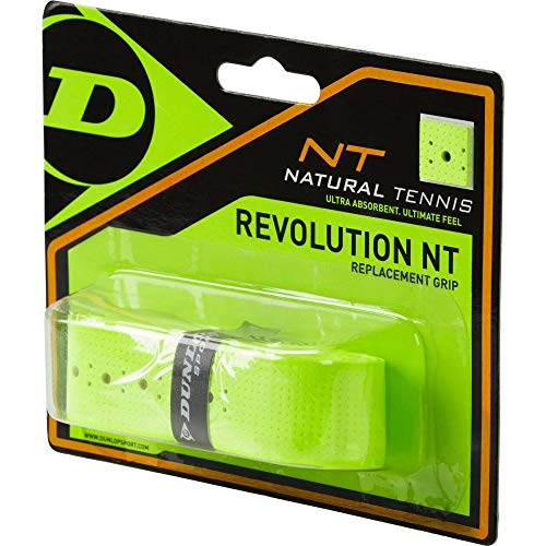 Dunlop Revolution NT Replacement Grip gelb 1er Basisgriffbänder, One Size