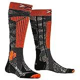 X-Socks Rider 4.0, Calze Invernali da Sci Unisex – Adulto, Stone Grey Melange/X-Orange, L