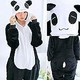 JBDGNZ Pajamas Animal Adults Winter SleepwearStitch Panda Pyjamas Women Anime Costumes Jumpsuit,Ivory,M