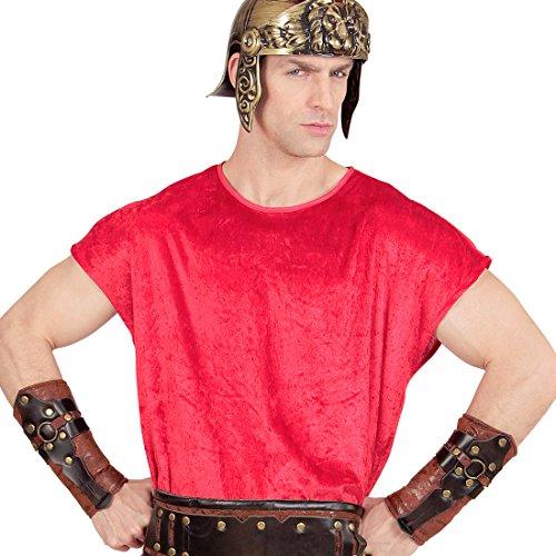 Amakando Brazalete de Soldado Romano | Muñequera de Gladiador | Accesorio Disfraz Vikingo | Pulsera Imitación de Cuero