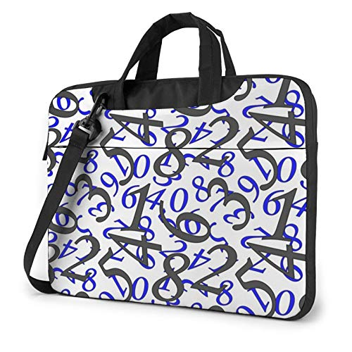 Numbers Laptop Shoulder Messenger Bag,Laptop Shoulder Bag Carrying Case with Handle Laptop Case Laptop Briefcase 13 Inch Fits 13 inch Netbook/Laptop