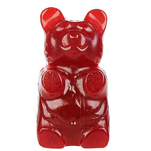Monsterzeug XXL Gummibär, 2kg Gummibärchen, Riesen Fruchtgummi Bär, Kirsche, Cherry Weingummi Gigant, Süßigkeiten, süße Geschenke, Rot, 24 cm