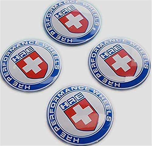 kil1 4Pcs Red 65mm HRE Performance Aluminum Auto Wheel Center Hub Cap Emblems Stickers