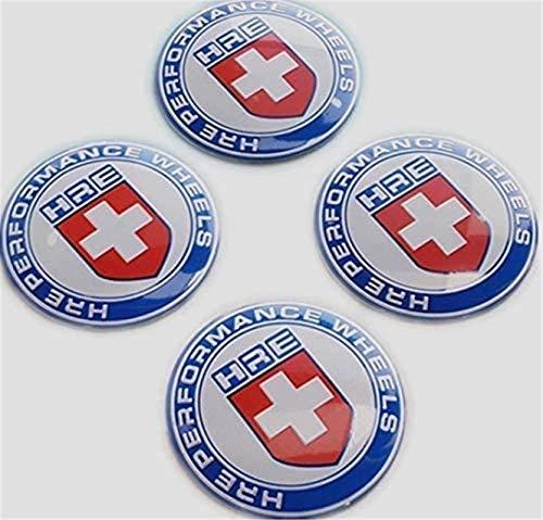 kil1 4Pcs Red 65mm HRE Performance Aluminum Auto Wheel Center Hub Cap Emblems Stickers