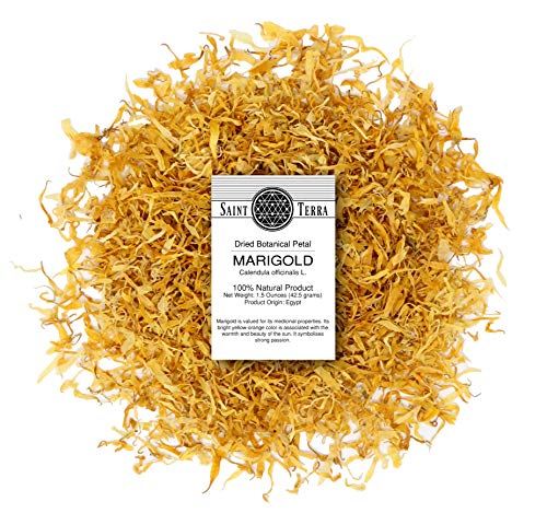 Saint Terra Dried Marigold Petals, 1.5 Ounces