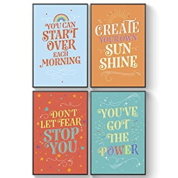 Shareable Kids Posters Unusual Friendship Gift Inspirational Wall Art for Children - Motivational Posters Graduation Gifts